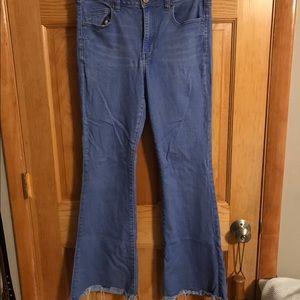 high rise slim flare american eagle jeans
